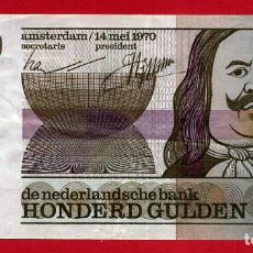 Billetes extranjeros: BILLETE HOLANDA , 100 GULDEN 1970 , MBC , ORIGINAL , T487. Lote 159512874