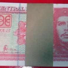 Billetes extranjeros: LOTE , PAQUETE DE 100 BILLETES DE 3 PESOS DE CUBA 2004 CHE GUEVARA , SIN CIRCULAR , ORIGINALES. Lote 163609648