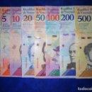 Billetes extranjeros: VENEZUELA 2 5 10 20 50 100 200 500 BOLIVARES SOBERANOS ENERO-MAYO 2018 SIN CIRCULAR. Lote 159935554