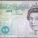 Billetes extranjeros: REINO UNIDO. GRAN BRETAÑA. INGLATERRA 5 LIBRAS 2002.. Lote 160370842