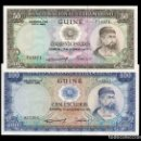 Billetes extranjeros: GUINEA PORTUGUESA SET 50 100 ESCUDOS 1971 PICK 44 45 SC UNC. Lote 160372558