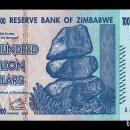 Billetes extranjeros: ZIMBABWE 100000000000000 100 TRILLION DOLLARS 2008 PICK 91 SC UNC . Lote 160375374