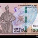 Billetes extranjeros: UZBEKISTAN 100000 SUM 2019 PICK NEW SC UNC. Lote 160377510