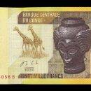 Billetes extranjeros: CONGO 20000 FRANCS GIRAFFES, CARVED HEAD BASHILELE 2013 PICK 104B SC UNC. Lote 160382454
