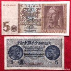 Billetes extranjeros - Lote de billetes de Alemania y zonas ocupadas durante el tercer reích, originales de época. - 160621790