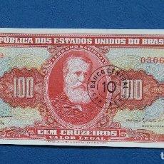 Billetes extranjeros: BRASIL 10 CTVOS/100 CRUZEIROS 1966-67 SC-. Lote 160627118