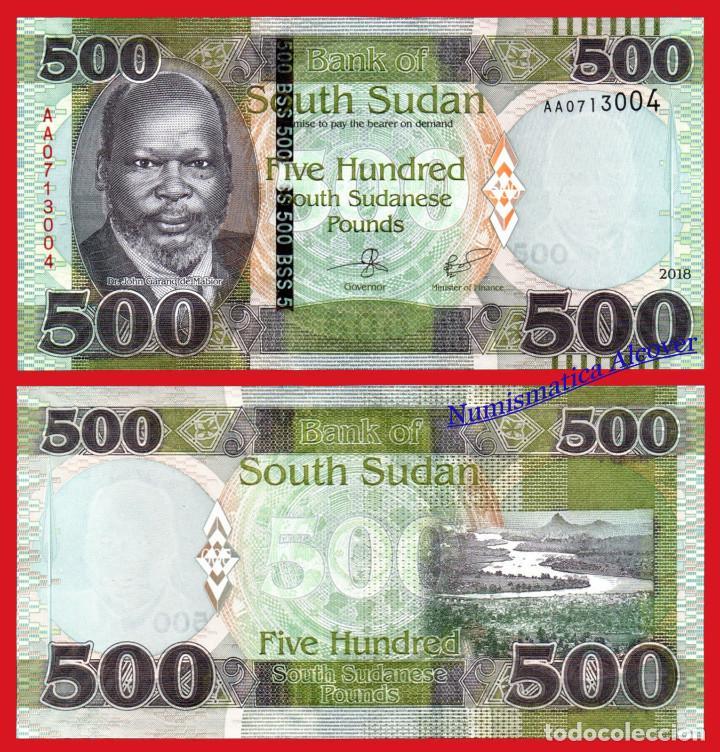 SUDÁN DEL SUR 500 LIBRAS SUDANESAS 2018 PICK 16 - SC (Numismática - Notafilia - Billetes Extranjeros)