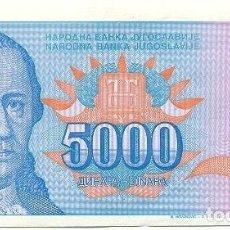 Banconote internazionali: YUGOSLAVIA 5,000 DINARA 1994 PK 141 A FIRMA 18 UNC. Lote 160707158