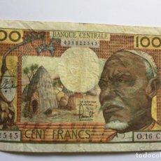 Billetes extranjeros: BILLETE DE 100 FRANCOS: ÁFRICA ECUATORIAL (CONGO-GABÓN) (1963) ¡COLECCIONISTA! ¡ORIGINAL!. Lote 160838890