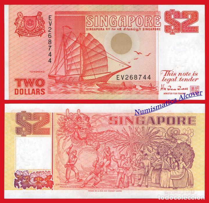 SINGAPUR 2 DOLLARS DOLARES 1990 PICK 27 - SC (Numismática - Notafilia - Billetes Extranjeros)
