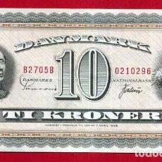 Banconote internazionali: BILLETE DINAMARCA , 10 CORONAS KRONER 1963 1964 , MBC++ , ORIGINAL , T296. Lote 160986422