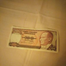 Billetes extranjeros: BILLETE 100 TURKIYE CUMHURRIYET MERKEZ BANKASI 1970. Lote 161019442