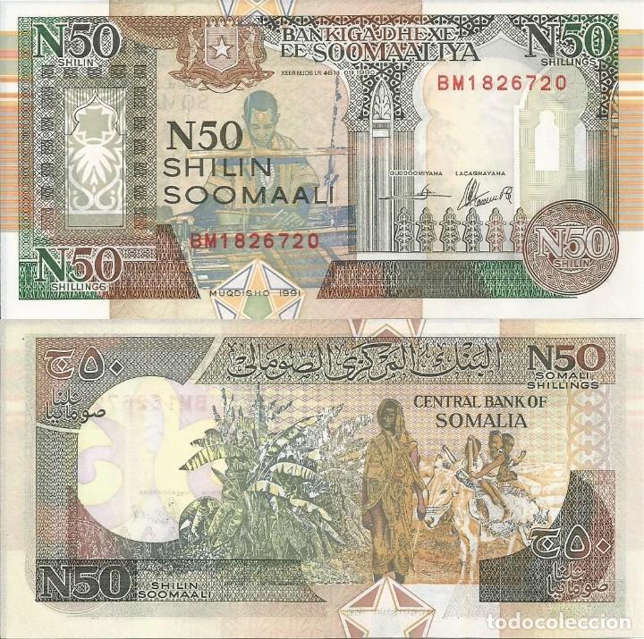 SOMALIA 1991 - 50 SHILIN SOOMAALI - R2A.2 - SC (Numismática - Notafilia - Billetes Extranjeros)