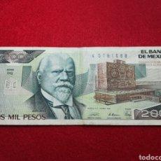 Billetes extranjeros: DOS MIL PESOS MEXICANOS 1989. Lote 161378576