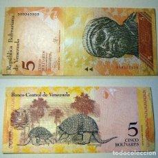 Billetes extranjeros: BILLETE DE VENEZUELA 5 BOLIVARES 2013 SIN CIRCULAR. Lote 161456602