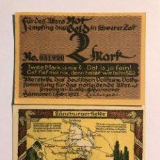 Billetes extranjeros: LOTE DE 2 BILLETES NOTGELD ALEMANES DEL AÑO 1921 - 1922 MBC. Lote 161541294