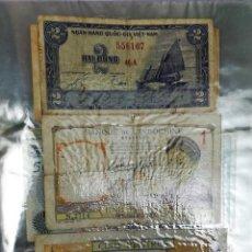 Billetes extranjeros: ÁLBUM DE BILLETES ANTIGUOS. COLECCIÓN PENÍNSULA DE INDOCHINA. VARIOS AÑOS. Lote 161771190