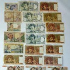 Billetes extranjeros: COLECCIÓN DE 24 BILLETES ANTIGUOS FRANCESES. FRANCIA CIRCA 1920 . Lote 162185082