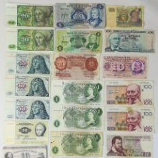 Billetes extranjeros: 23 BILLETES ANTIGUOS. VARIOS PAÍSES DE EUROPA. VV. AA.. Lote 162232702