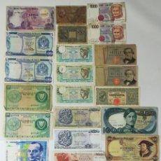 Billetes extranjeros: 24 BILLETES ANTIGUOS. VARIOS PAÍSES DE EUROPA. VV. AA.. Lote 162258274