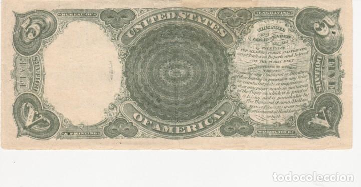 Billete 5 Dolares Usa 1907 El Leñador