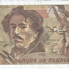 Billetes extranjeros: FRANCIA - FRANCE 100 FRANCS 1995 PK 154 H.2 FIRMAS BRUNEEL, BONNARDIN Y VIGIER. Lote 162807762