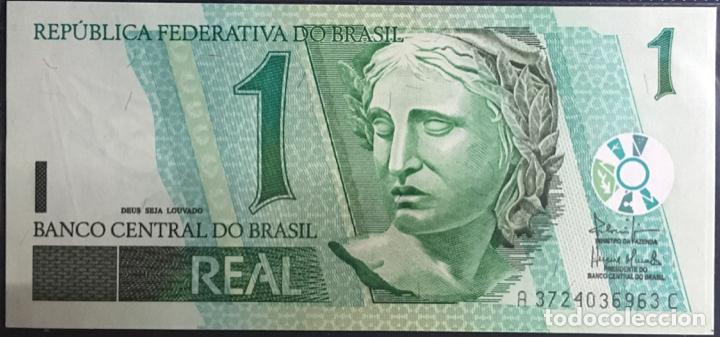 BRASIL BILLETE 1 REAL AÑO 2003, PK251, UNC (Numismática - Notafilia - Billetes Extranjeros)
