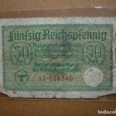 Billetes extranjeros: ALEMANIA 50 REICHSPFENNIG TERRITORIOS OCUPADOS GOBIERNO NAZI II GUERRA MUNDIAL 1940-1944. Lote 163197986