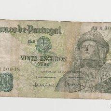 Billetes extranjeros: PORTUGAL- 20 ESCUDOS- 1971. Lote 163607718