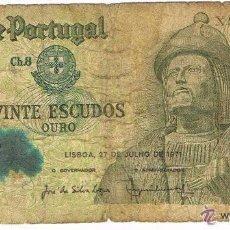 Billetes extranjeros: BILLETE DE PORTUGAL, 1971, 20 ESCUDOS (LOTE 1). Lote 175939375