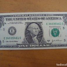 Billetes extranjeros: BILLETE 1 DOLAR USA MBC. Lote 163791902