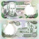 Billetes extranjeros: COLOMBIA - 200 PESOS ORO 1992 - SERIE Nº 31104615 - S / C - MIRE MIS OTROS LOTES Y AHORRE GASTOS. Lote 163818934