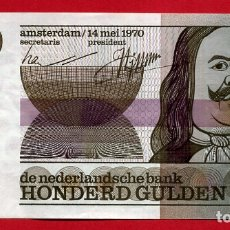 Billetes extranjeros: BILLETE HOLANDA , 100 GULDEN FLORINES 1970 , MBC++ , ORIGINAL , T244. Lote 164029170