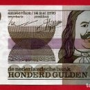 Billetes extranjeros: BILLETE HOLANDA , 100 GULDEN FLORINES 1970 , MBC++ , ORIGINAL , T492. Lote 164029498