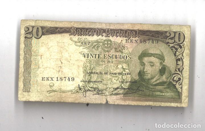 PORTUGAL. 20 ESCUDOS. 1964. CIRCULADO (Numismática - Notafilia - Billetes Extranjeros)