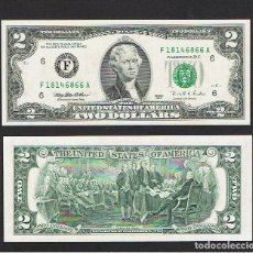 Billetes extranjeros: ESTADOS UNIDOS - USA : 2 DOLARES 1995.( F - ATLANTA, GA ) SC.UNC. PK 497. PREFIX.A. Lote 194899025
