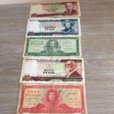 Billetes extranjeros: BILLETES CUBANOS PARA COLECCIONISTAS. Lote 165069353