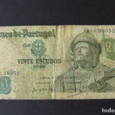 Billetes extranjeros: BILLETE 20 ESCUDOS PORTUGAL EMITIDO EN 1971. Lote 165099994