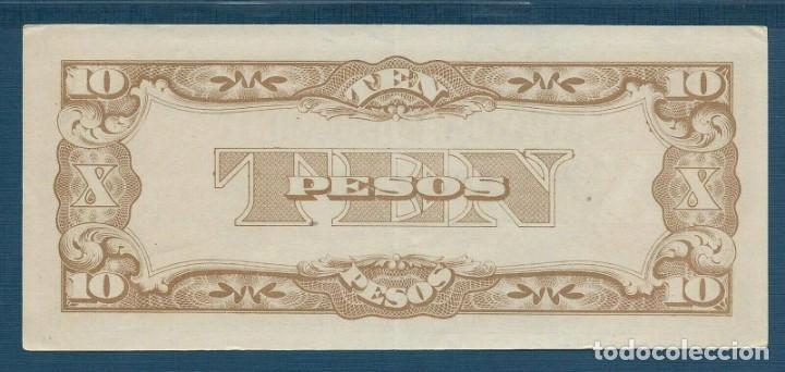 Billetes extranjeros: 10 pesos Gobierno japonés sobre las Filipinas de 1942 en calidad AU/XF+ serie PD 1º emisión (C1) - Foto 2 - 165123466