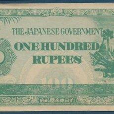 Billetes extranjeros: 100 RUPIAS GOBIERNO JAPONÉS SOBRE BIRMANIA DE 1942 EN CALIDAD XF SERIE BA (C1). Lote 165124318
