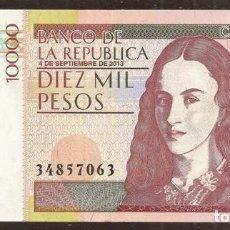 Banconote internazionali: COLOMBIA. 10000 PESOS 4.9.2013. S/C. Lote 165230080