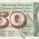 Billetes extranjeros: 1972. SUIZA,BILLETE 50 FRANCOS . BC .( 2 FOTOS ). Lote 165448374