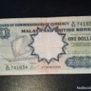 Billetes extranjeros: BILLETE ORIGINAL DE MALAYA 1 DOLAR 1959 CIRCULADO. Lote 165595226