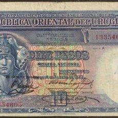 Billetes extranjeros: URUGUAY. 10 PESOS 14.8.1935. PICK 30B.. Lote 165630220