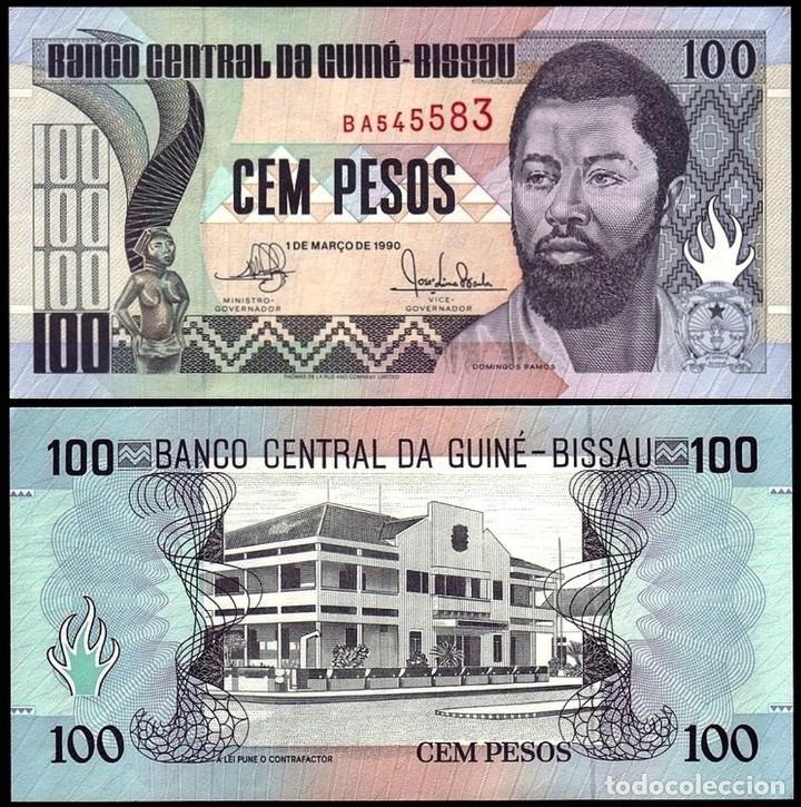 GUINEA BISSAU 100 PESOS 1990 PIK 11 S/C (Numismática - Notafilia - Billetes Extranjeros)