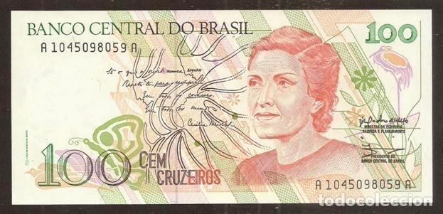 BRASIL (BRAZIL). 100 CRUZEIROS (1990). PICK 228. S/C. (Numismática - Notafilia - Billetes Extranjeros)