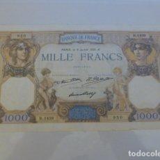Billetes extranjeros: BILLETE 1000 FRANCOS 1931. Lote 166060550