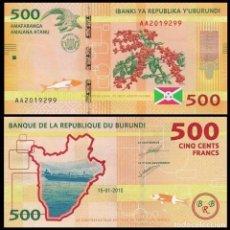 Billetes extranjeros: BURUNDI 500 FRANCOS 2015 PIK 50 S/C. Lote 189273072