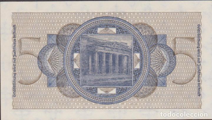 Billetes extranjeros: BILLETES - GERMANY-ALEMANIA - 5 REICHSMARK - 1940-45. - SERIE Q 0686582 - R-138A (SC) - Foto 2 - 176179725