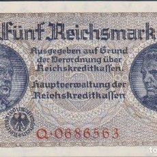 Billetes extranjeros: BILLETES - GERMANY-ALEMANIA - 5 REICHSMARK - 1940-45. - SERIE Q 0686582 - R-138A (SC). Lote 176179725
